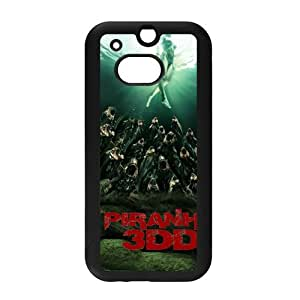 MeowStore Sexy Girl Floating Horror Piranha Phone Case For HTC ONE M8 Black