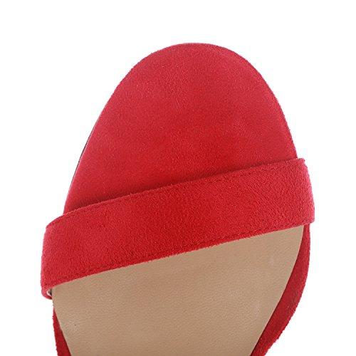 Shoes Dress Open Women's Heeled Red High Evening Stilettos Party Toe Velvet Sandals Sandals Buckled Ankle Strap for Heel Wedding 8Xa8qr