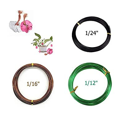 Preamer Set of 3 Bonsai Tree Kit Long Lasting Bonsai Tool Training Aluminum Wire for Tree Jewely Beading Wire with 100Pcs Plastic Plant Labels(Assorted Color): Arts, Crafts & Sewing