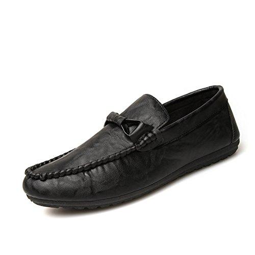Granos de simple moda en zapatos de verano/Pie comodidad transpirable zapatos de los hombres Negro