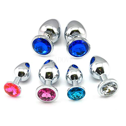 T-Shirt Cat Tail Butt Toy Plug Sex 100 Pcs/lot Small Size Stainless Steel Crystal Anal Plug Jeweled Butt Plug Boot Beads, Metal Anal Sext Toy for Women Men GS0021,Ran Color,Adult Butt Play Plug by FRKJGG TSHIRT (Image #2)