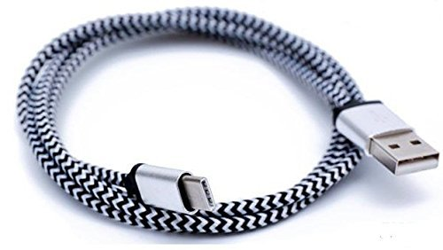 Black White Reversible Charging Cable