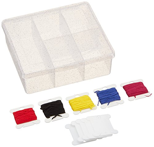 DMC Prism Sparkle Mini Craft Box-Clear 5-1/2
