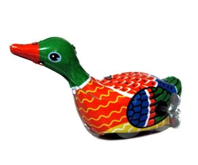 ARTCLUB Paddling Duck, Metal Animal Winds Up, Steel Tin Toy - Duck Up Wind