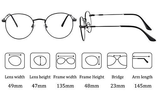 637ee258 SHINU Round Polarized Sunglasses with Polaroid Clip-on Glasses UV400 Anti  Blue Light Progressive Multifocus Reading Glasses-MATDC3042(C1,anti-blue ...