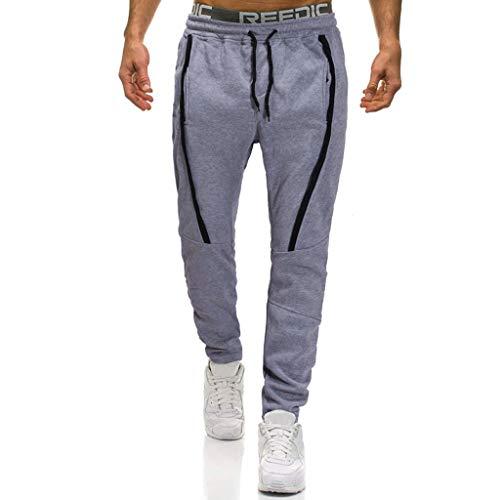 Coton Sport Survêtement Pantalon Gris Homme Slim Casual De Trousers En Kppong Jogging dn0qOII