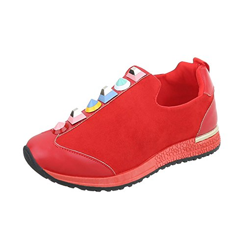 Sneakers Chaussures Plat Mode Espadrilles Low Baskets Ital Design Femme ZTBROR