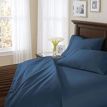 Better Homes And Gardens 400 Thread Count Solid Egyptian Cotton True Grip  Bedding Sheet Set,