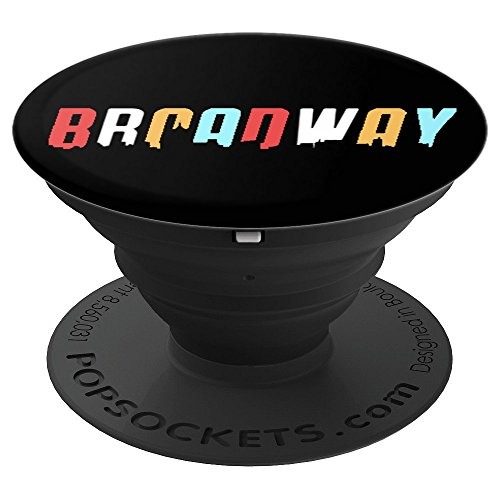 Broadway Retro Colors Skyline Theatre Drama Musical Fan Gift - PopSockets Grip and Stand for Phones and Tablets