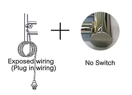 BATHAE Toalla de acero inoxidable Calentador de toallas secadora eléctrica Rieles accesorios de baño Herrajes para