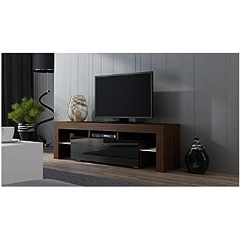 Amazon.com: TV Stand MILANO 200 Walnut Line / Modern LED TV ...