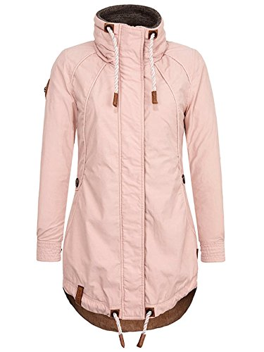 Parka Maniche Donna Usty Pink Lunghe Giacca Collo Naketano Mao Basic T7wW1A