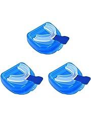 EXCEART 3Pcs Anti Snurken Apparaten: Tandheelkundige Mond Guard- Slijpen Mondstuk- Night Tijd Tanden Gebitsbeschermer& Slapen Bite Guard Voor Bruxisme