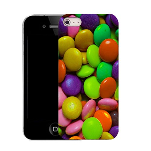 Mobile Case Mate IPhone 5S clip on Silicone Coque couverture case cover Pare-chocs + STYLET - sweeties pattern (SILICON)
