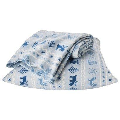 Amazon.com: Circo Blue Fair Isle Sheet Set Twin Size Flannel Bed ...