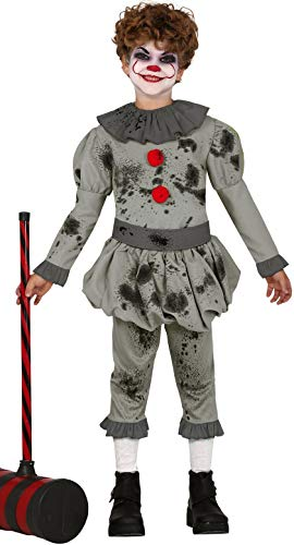 Boys Bad Horror Clown Scary Creepy Halloween Film Fancy Dress Costume Outfit 3-12 Years (10-12 -
