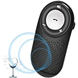 AIGITAL Bluetooth Car Speaker for Cell Phone, Bluetooth Handsfree in-Car Speaker and HD Sound for Phone Calling, AUTO Power ON Function/Music Play, Supports Siri and Google Assistant - Black