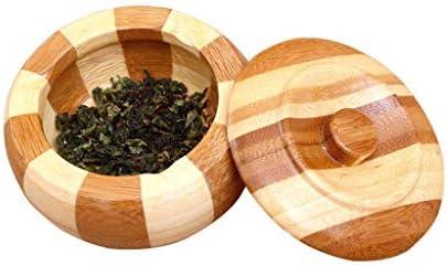 SRX ホームオフィスホームテーブルアッシュトレイ用灰皿タバコストレージ缶喫煙ポータブル灰皿クリエイティブ木製灰皿付きのふたラウンド手作り葉巻