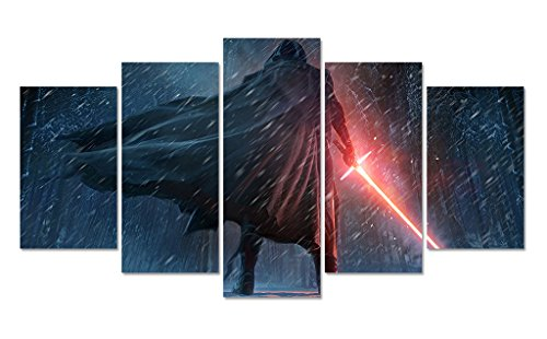 LMPTARTTM-Framed-60x32-inches-star-wars-The-Force-Awakens-movie-poster-wall-art-picture-print-canvas-Painting-for-kids-wall-dcor-living-room-home-decor-wall-art-stars-wars-canvas-print-painting