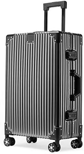 [해외]Kroeus (클로스) 가방 운반 케이스 알루미늄 합금 몸 TSA 자물쇠 4 륜 더블 캐스터 여행용 프레임 유형 1 년 보증 서비스 / Kroeus Suitcase Carry Case Aluminum Alloy Body TSA Lock 4-Wheel Double Caster Travel Frame Type 1 Year Warranty Ser...
