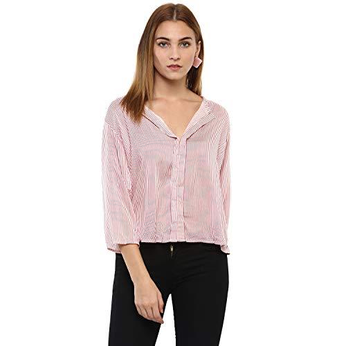 mayra Women #39;s Rayon Pink 3/4 Sleeve Top