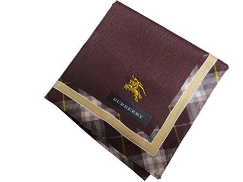 Burberry Womens Handkerchief Horse Mark Embroidery Check Dot - Handkerchief Burberry