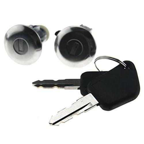 Set Serrure Barillet Antivol de porte avant auto clés Pour Peugeot 106 205 405