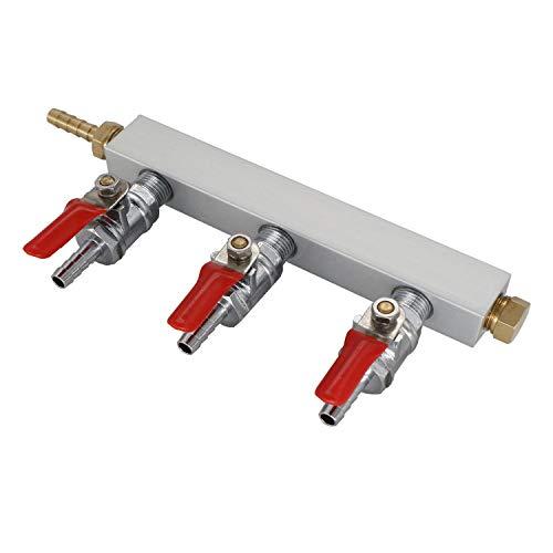 (Gas Manifold, Beer Gas Distributor, CO2 Air Distributor Manifold - Splitter 1/4