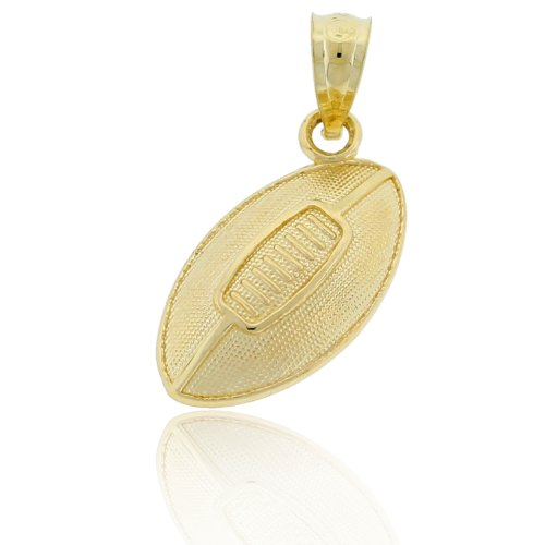 Charm America - Gold Football Charm - 10 Karat Solid Gold
