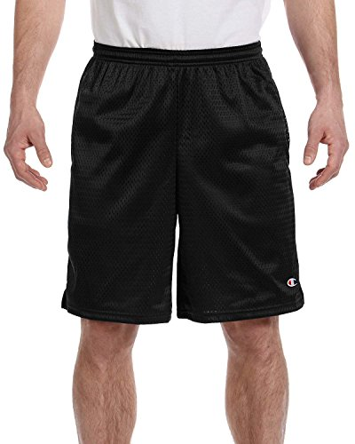 Champion Men's Long Mesh Short With Pockets,Black,Small from Champion
