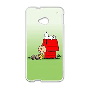 HTC One M7 Cell Phone Case White Snoopy 009 Delicate gift AVS_543419
