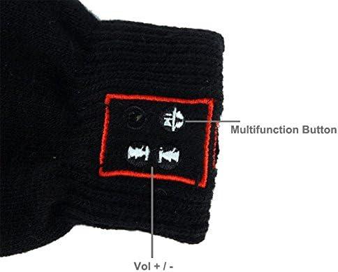 Kabellose Handschuhe mit Bluetooth-Verbindung Smartphones Originelles Geschenk Kompatibler Touchscreen