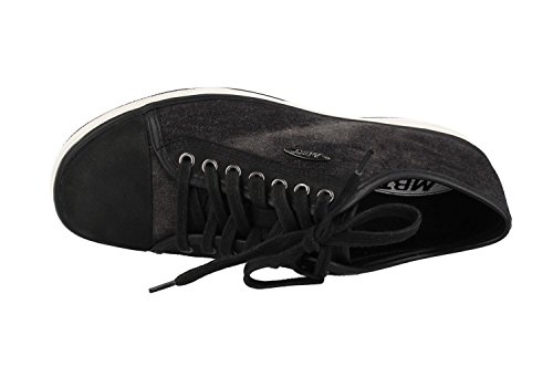 Image of MBT Women's Jambo (LE) Athletic Walking Shoe (38 EU/7-7.5 M US, Black Stone Washed Denim)