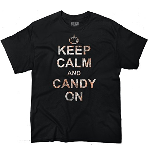 Funny Halloween T Shirt Keep Calm And Candy On Pumpkin Womens Tee Costume (Zombie Dress Up Ideas)