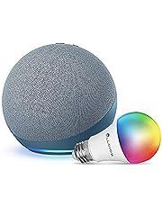 Nuevo Echo (4ta Gen) - Con sonido de alta calidad, hub de Casa Inteligente y Alexa