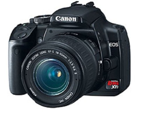 Canon Rebel XTi DSLR Camera with EF-S 18-55mm f/3.5-5.6 Lens (OLD MODEL) ()