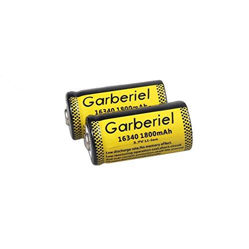 Garberiel 10-Pack 3.7v 16340 Li-ion Rechargeable Battery CR123A Battery for LED Flashlight by Garberiel (Image #4)
