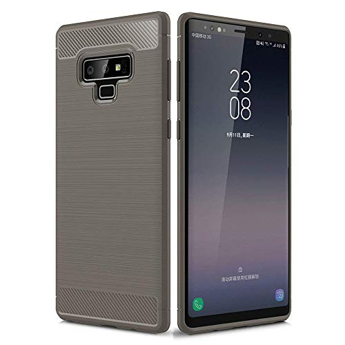 Price comparison product image Galaxy Note 9 case,  Buybuybuy Carbon Fibre TPU Silicone Gel Cover Bumper Shockproof Protective Cover for Samsung Galaxy Note 9 (Gray)