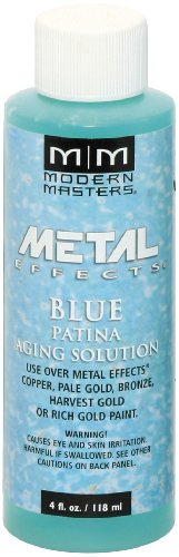Modern Masters PA902-04 Aging Solution Blue Patina, 4-Ounce ()