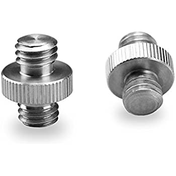 "SmallRig Double Head Stud Adapter 3/8"" Male to 3/8"" Male Thread Screw for Flash Mount Holder Stand (2pcs Pack)"