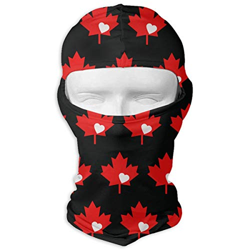 Leopoldson Canada Flag Canadian Maple Leaf Balaclava UV Protection Windproof Ski Face Masks for Cycling Outdoor Sports Full Face Mask Breathable -