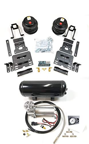 TS - Fits Ford F250 F350 Super Duty 05-10 Pickup Truck Towing Assist Helper Air Ride Suspension Kit Complete With In-Cab Air Management Control System 4WD