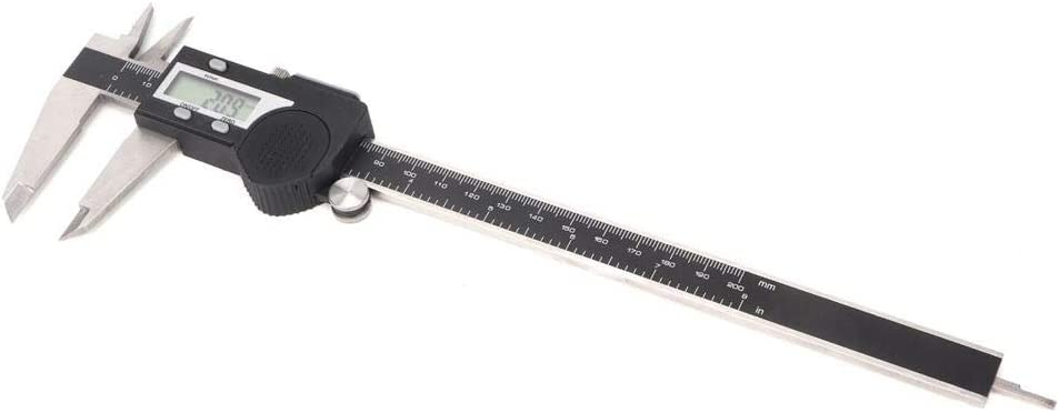 eecoo Digital Vernier Caliper Electronic Measuring Tool, Conversion with Extra-Large LCD Screen, Stainless Steel, Digital Vernier Caliper (0-200mm) 0-200mm