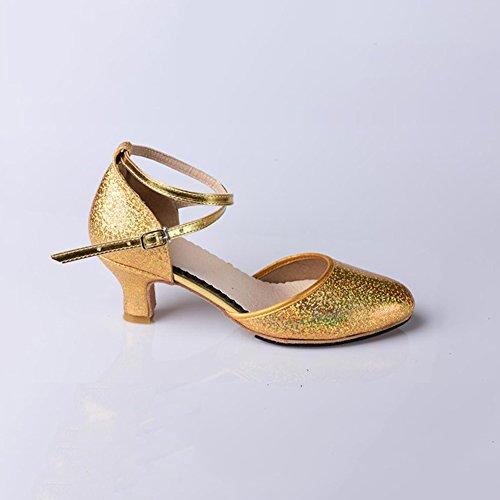 Mujer Zapatos Noche Interior Modernos Sintético Plata Salón Brillo Principiantes Hebilla Zapatos XUE Chispeante y Fiesta Oro para Alto Segundo Tacón para de Práctica Verano 4tSqxw