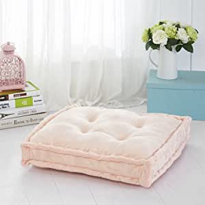 Amazon.com: Mainstays Tufted Floor Pillow, Blush: Home & Kitchen