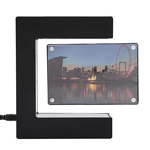 (Bozhiyi Picture Frames Desktop Photo Frame Magnetic Levitation Photo Frames Creative Floating Picture Frames with LED E Shaped Gift Practical Home Office Desktop Decoration Crafts(UK) (Color : UK))
