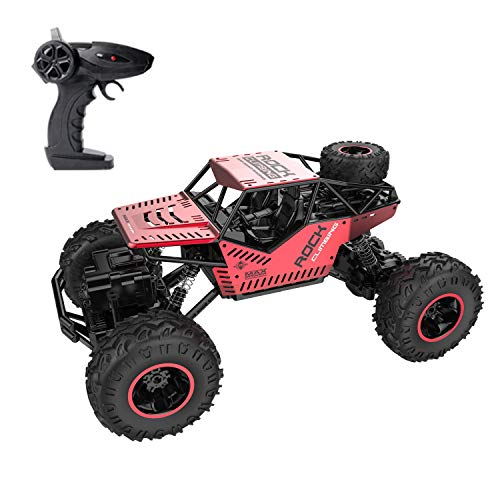 GhoSTar Toys RC Car 2018 Latest 2.4 GHz High Speed Remote Control Car 1/16 Off Road RC Truck 4 WD Rock Crawler RC Vehicle Gifts for All Adults Kids (Red)