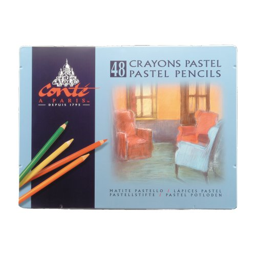 Conte 2184 48-Count Assortment of Pastel Pencils by Conte