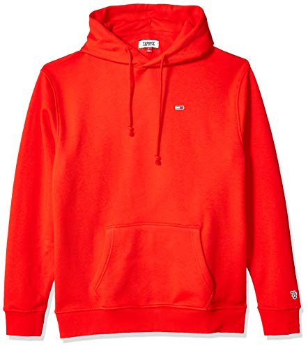 520b56259 Tommy Jeans Men's Hoodie Sweatshirt Classics Collection, Flame Scarlet  X-Large