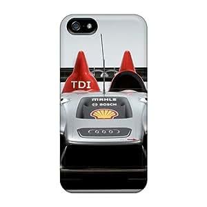 Iphone 5/5s Case Cover - Slim Fit Tpu Protector Shock Absorbent Case (formula 1 Audi R15 Tdi 11)